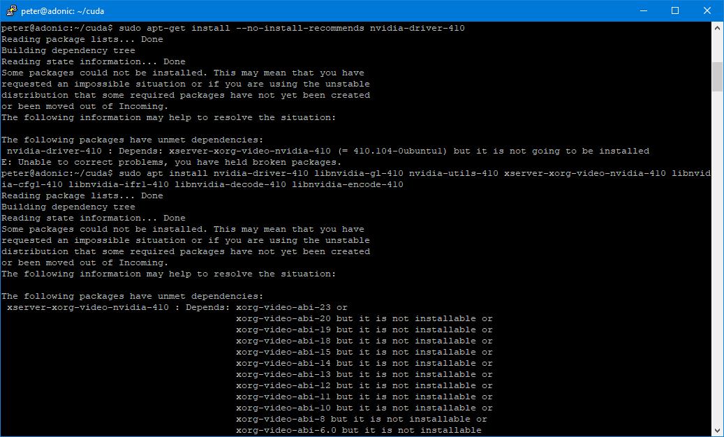 Install tensorflow gpu ubuntu 18 10   Install Tensorflow