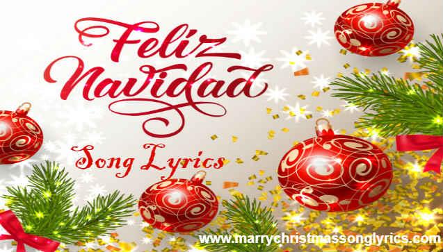 Feliz Navidad Song Lyrics