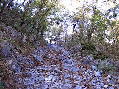 Últimos metros antes de llegar a las Antenas en el Cerro de la Silla