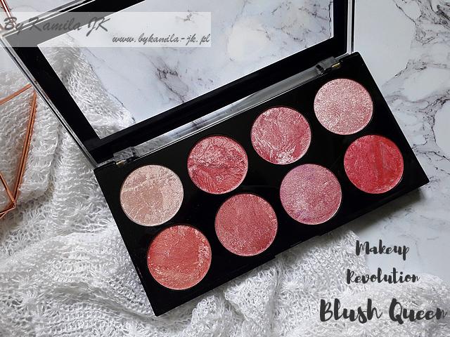 Makeup Revolution paletki różów Blush Palette Blush Queen