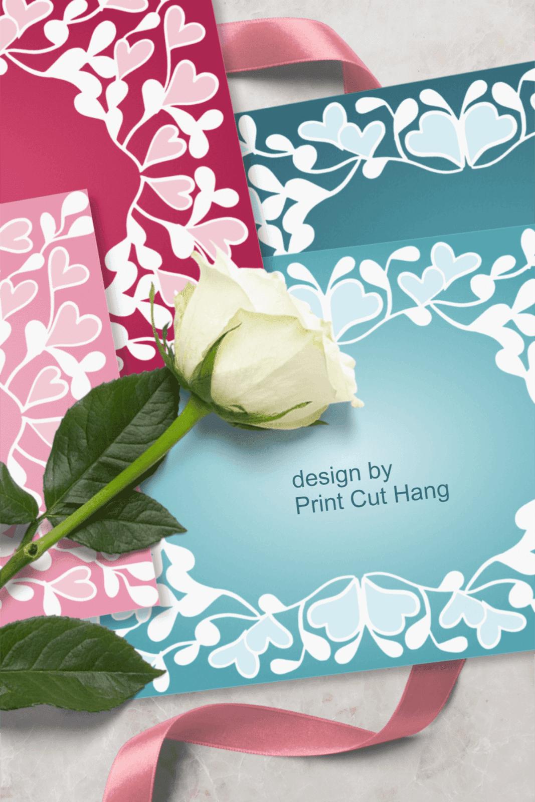VALENTINE CARDS FRAMES PNG