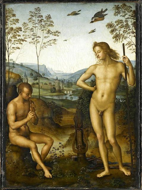 Pietro Perugino (1448-1523), Apollon et le berger Daphni (Apollo and Marsyas), c1483