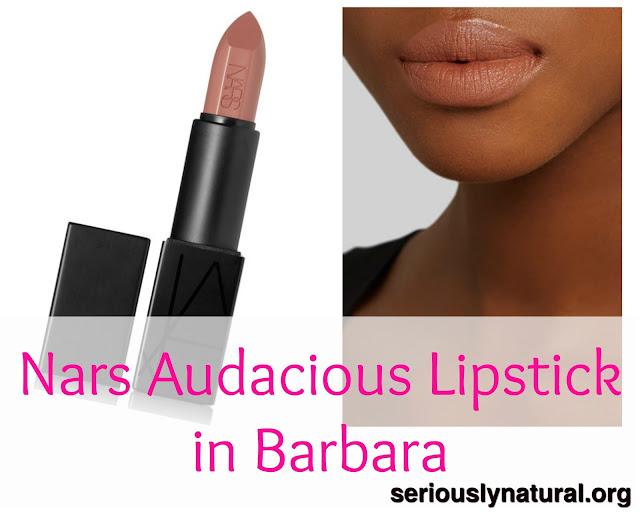 Click here to buy NARS Audacious Lipstick - Barbara (tan rose) as a nude  for light to medium skin tones.