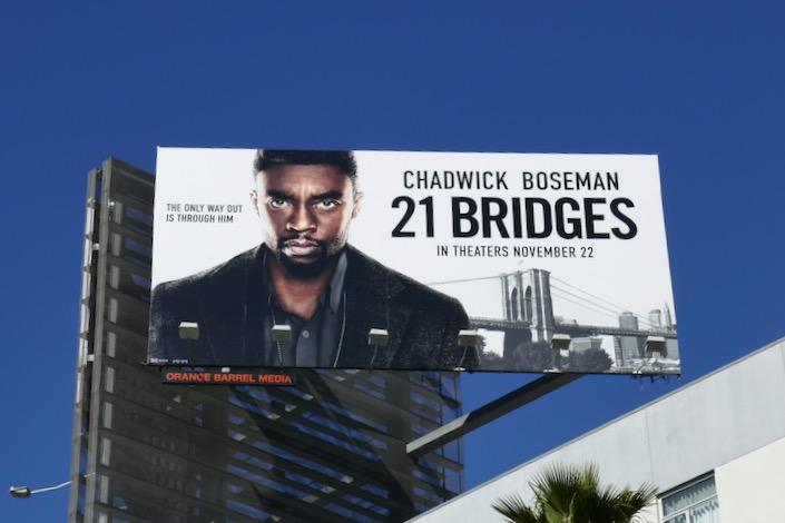 21 Bridges movie billboard