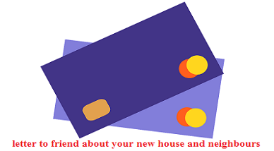 A Letter To Your Friend Describing Him Your New House And New Neighbours Wikiessays