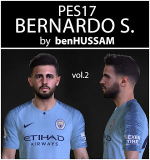 PES 2017 Faces Bernardo Silva by BenHussam