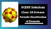 NCERT Solutions for Class 10 Science Chapter 5 Periodic Classification of Elements