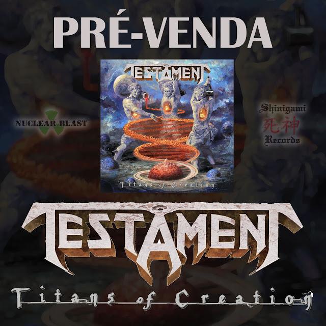 """Testament: começou a pré-venda do no álbum """"Titans of Creation"""""""