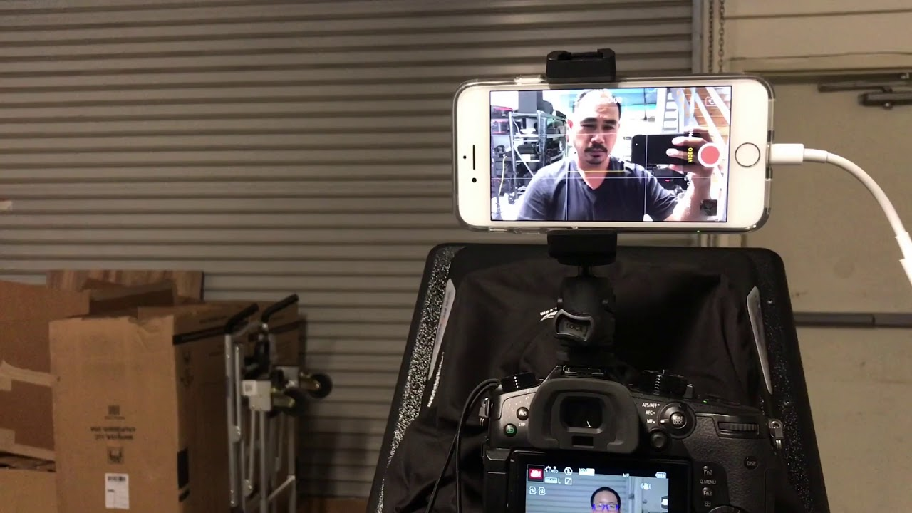 Simple tip: Using Teleprompter and iPhone for Interviews