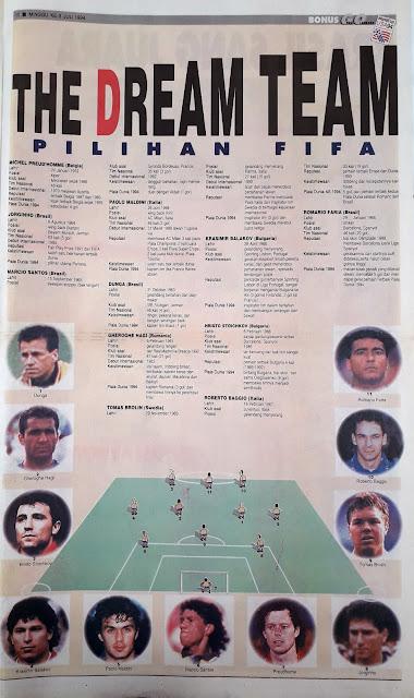 WORLD CUP USA 94 THE DREAM TEAM FIFA
