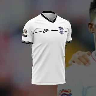 gambar ringan Bocoran Jersey Inggris  home euro 2020/2021 Nike Konsep
