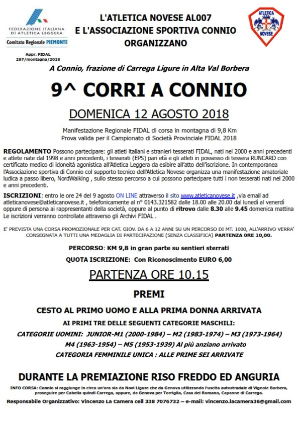Connio di Carrega Ligure 12 agosto