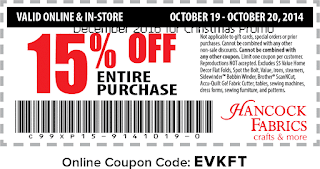 free Hancock Fabrics coupons for december 2016