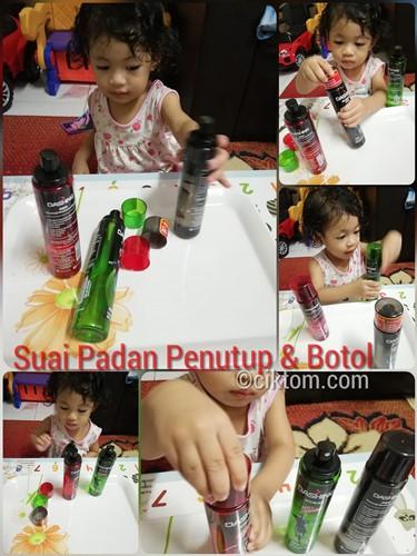 Idea Aktiviti Homeschooling Anak: Suai Padan Penutup dan Botol
