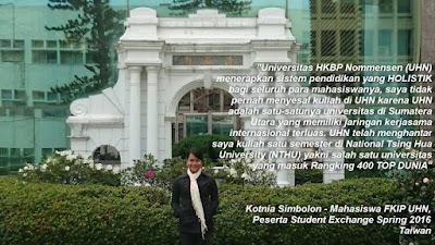 Penerimaan Duta Univ. HKBP Nommensen Provinsi Sumut - Pertukaran Mahasiswa Internasional (Student Exchange)