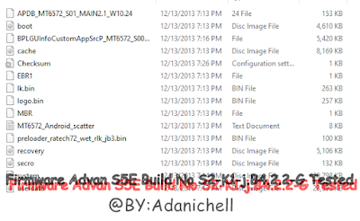 Firmware Advan S5E Build No S2-K1-j.B4.2.2-G Tested