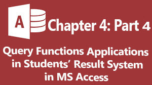 how to query students payroll system in ms access