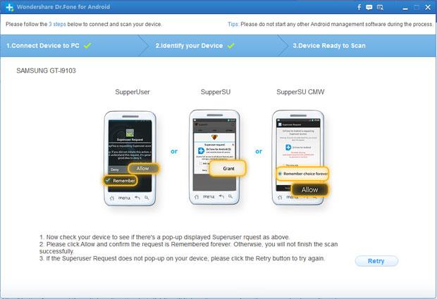 Hubungkan ponsel kamu ke komputer melalui kabel USB
