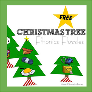 Christmas Tree Alphabet Phonics Puzzles