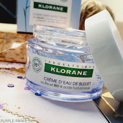 Blog Purplerain - Crème d'eau de bleuet - Klorane