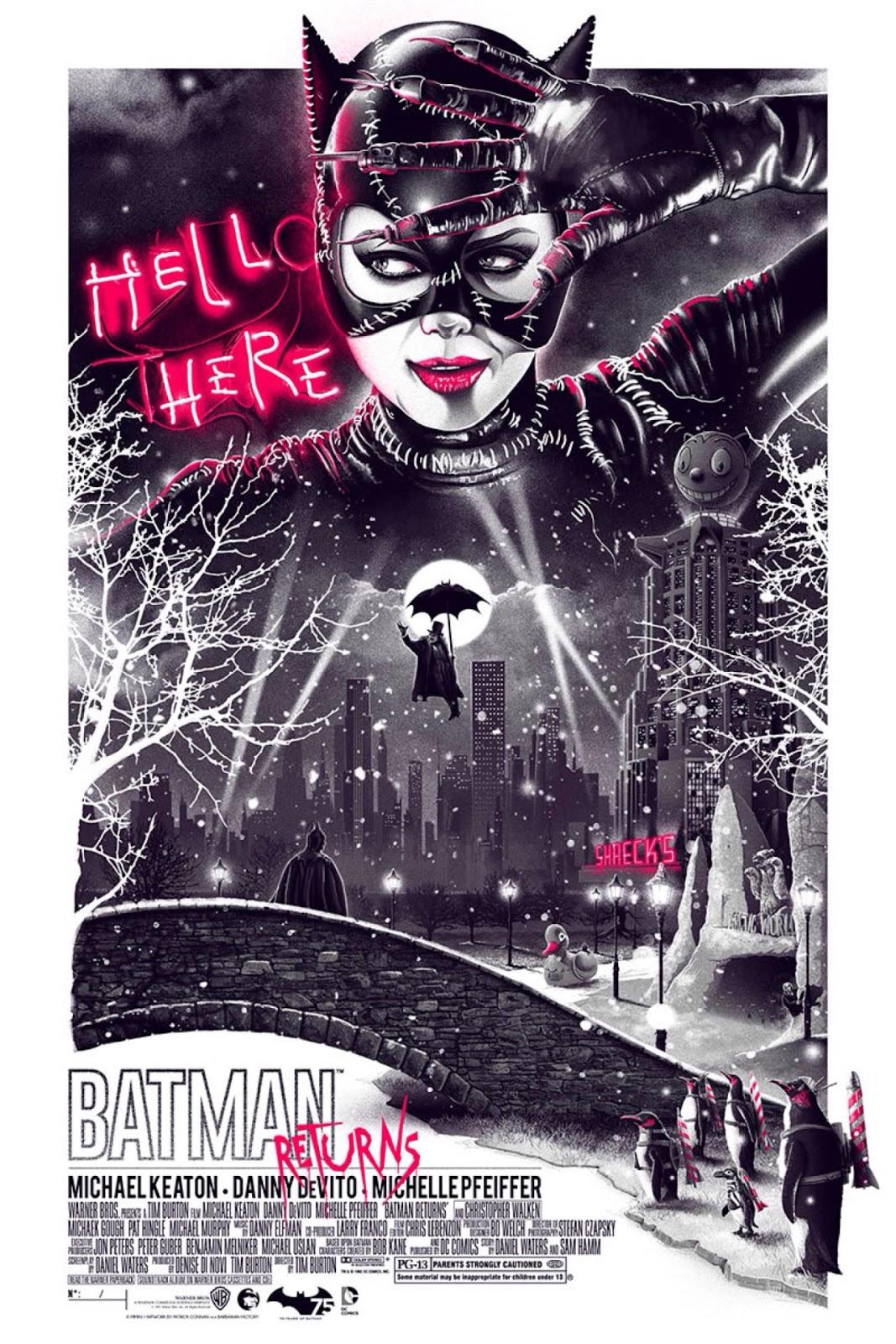 The Geeky Nerfherder: #CoolArt: \'Batman Returns\' Posters by Patrick ...