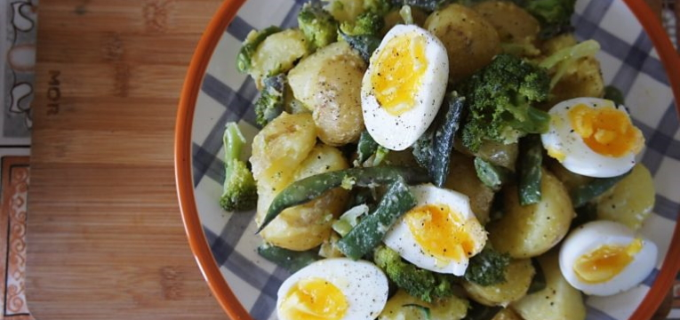 Salada de Batata com Vagens e Brócolis