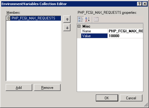 Softminer Net: Increase fast CGI max request on IIS 7