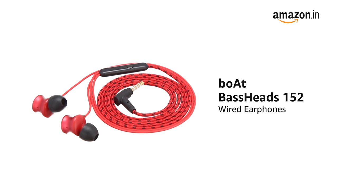 boat bassheads 152 wired earphone