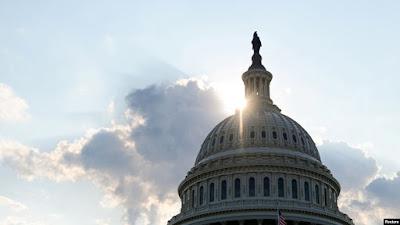 Kubah gedung Capitol di Capitol Hill, Washington.