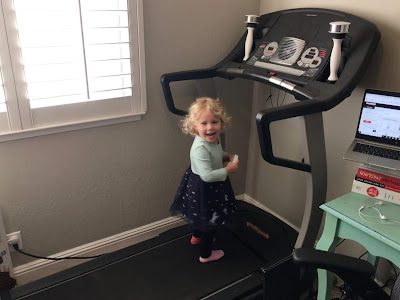 ProForm Crosswalk 545: decent treadmill, adorable girl