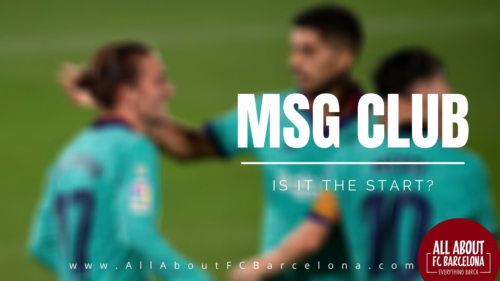 Messi, Saurez and Griezman forms the MSG Trident