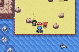 Pokemon Sunset Orange GBA Tracey y Lapras de Ash