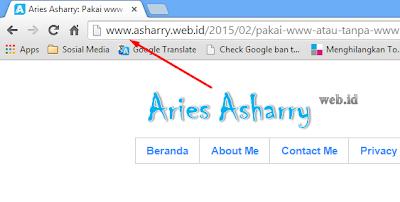 Memakai www atau tanpa www pada domain blog