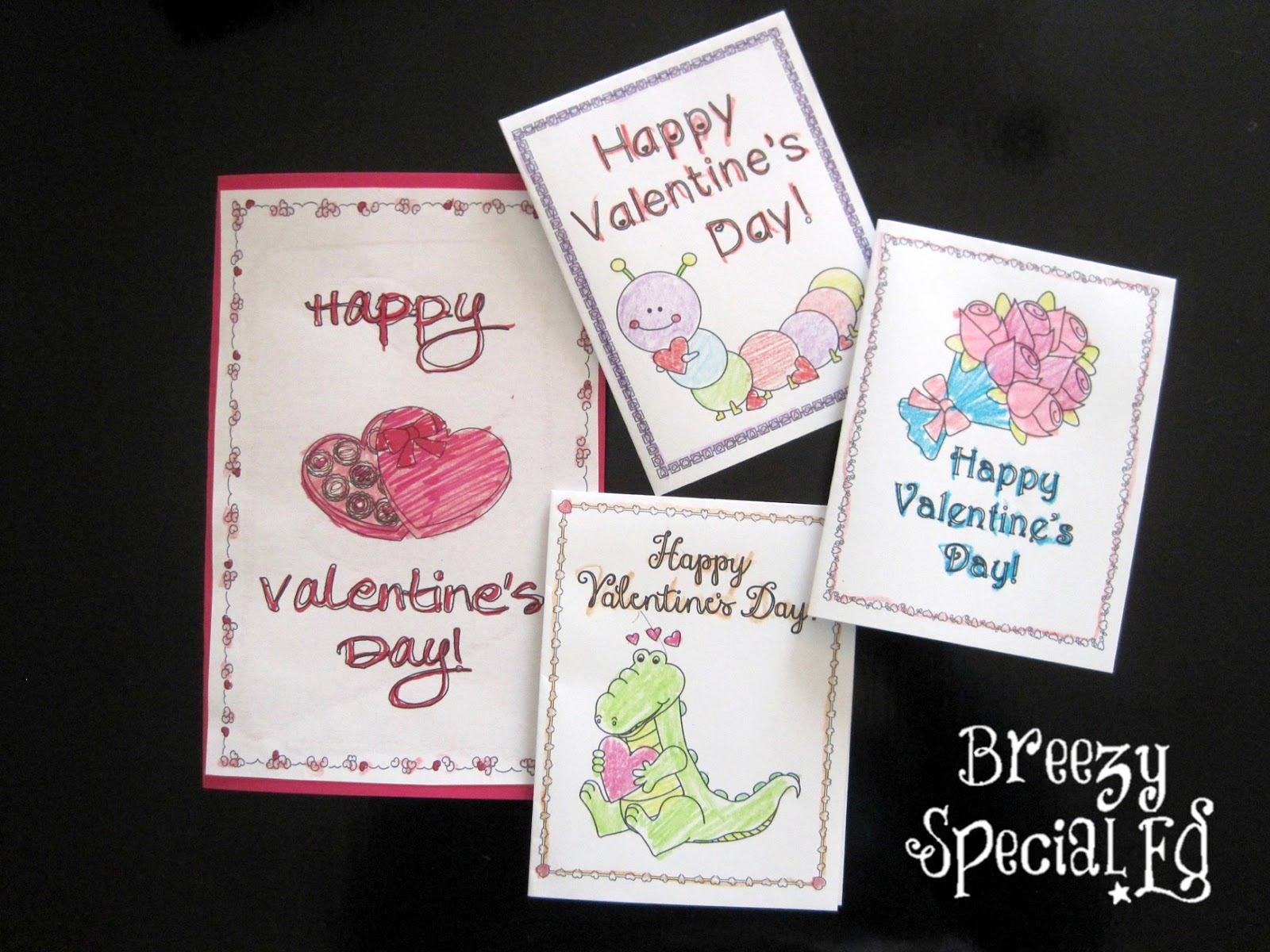 Valentine's Day cards for Special Education