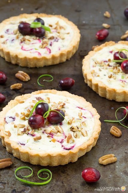cranberry gorgonzola tart appetizer