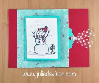 Stampin' Up! 2019 Holiday Catalog Sneak Peek ~ Let It Snow Suite ~ Snowman Season Peekaboo Flip Card ~ Control Freaks Fun Fold Blog Hop