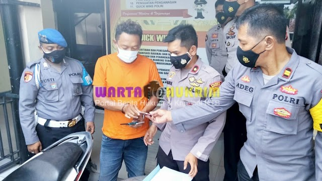 Pelaku Jambret Ini Tak Menyangka Bertransaksi  Dengan Polisi yang Menangkapnya