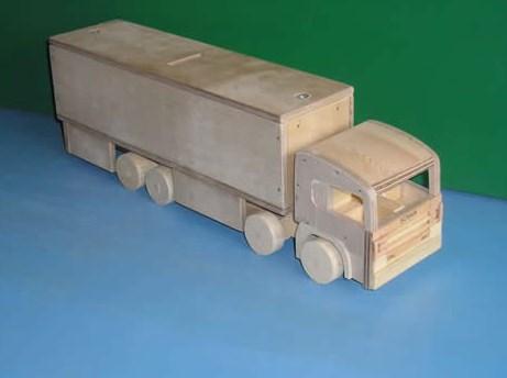 truk kayu kontainer miniatur