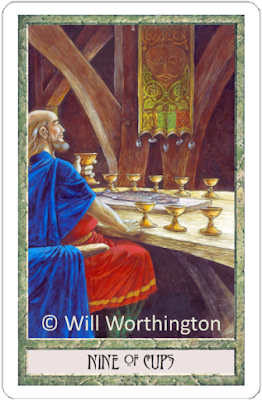Druidcraft Tarot Nine of Cups Will Worthington blog blogger