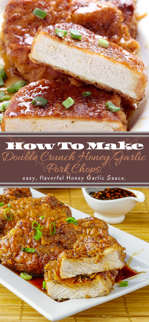 Double Crunch Honey Garlic Pork Chops #dinnerrecipe #food #amazingrecipe #easyrecipe