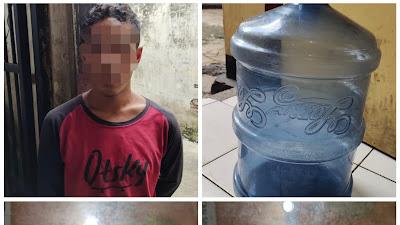 Diduga Curi Galon dan HP Jadul, Seorang Pria Ditangkap Polisi