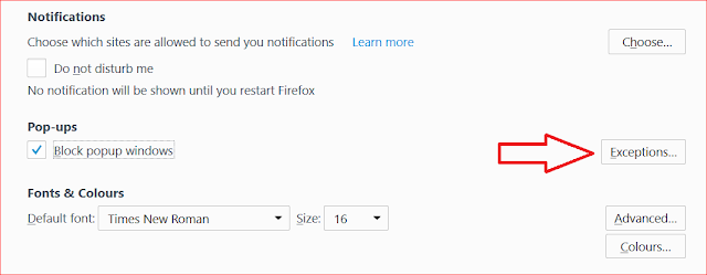 Block PopUp Windows On Mozilla Firefox Browser