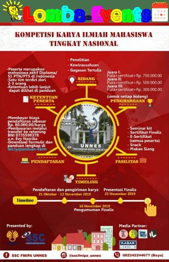 Lomba Karya Ilmiah Nasional KKIM Unnes 2019 Mahasiswa