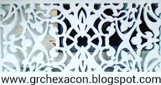 krawangan GRC motif batik sulur daun