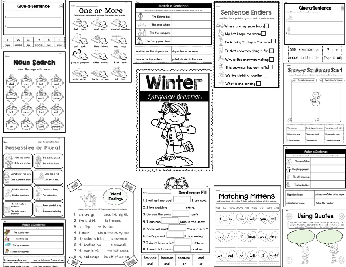Sarah's First Grade Snippets: Common Core Snowy Reading
