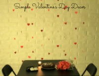 Simple Valentine's Day Paper Decor