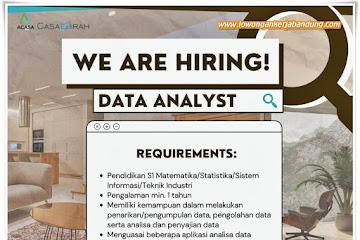 Lowongan Kerja Data Analyst Casamirah Bandung