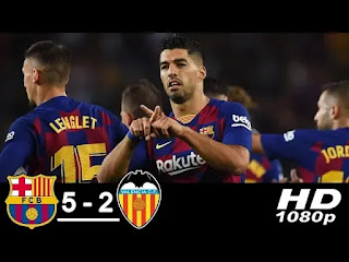 Barcelona Vs Valencia 5-2 All Goals And Match Highlights [MP4 & HD VIDEO]