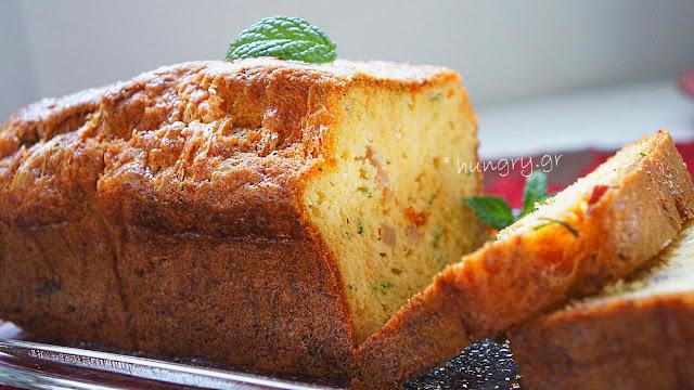 Αλμυρό Κέικ με Κολοκυθάκια