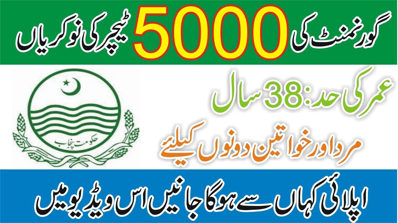 Teachers 5000 Jobs 2020 All Punjab